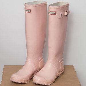 Hunter Original Tall Boots Matte Pink Size 8